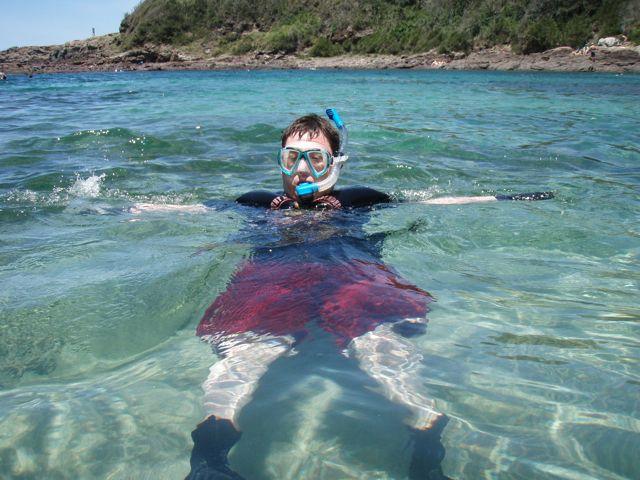Robert snorkelling